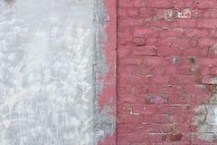 Maurerarbeitbacksteinmauer mit Dekoration u. übertragen Reparaturen stockbilder