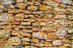 Maurerarbeitbeschaffenheit, Wand von Steinen, Hintergrund für Design, abstrakt Lizenzfreie Stockfotos