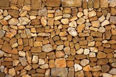 Maurerarbeitsteinwand auf römischem Schloss Stockfoto