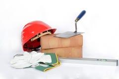 Maurerausrüstung Lizenzfreies Stockfoto