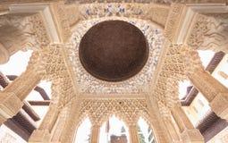 Mauretański pałac wnętrze, Alhambra, Hiszpania zdjęcie royalty free