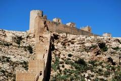 Mauretański kasztel, Almeria, Andalusia, Hiszpania. Fotografia Stock
