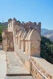 Mauretański kasztel, Almeria, Andalusia, Hiszpania Obrazy Royalty Free