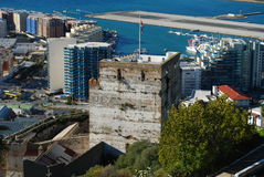 Mauretański kasztel, Gibraltar Fotografia Royalty Free