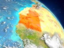 Mauretanië van baan vector illustratie