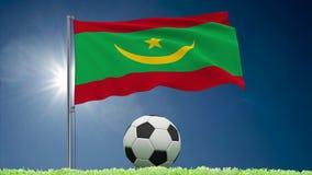 Mauretania futbolu i trzepotać chorągwiane rolki