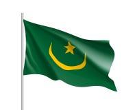 Mauretania realistyczna flaga Obrazy Royalty Free