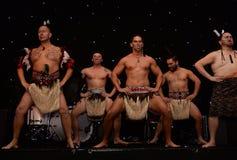 New Zealands Haka. Mauri Warriors performing the Haka Royalty Free Stock Image