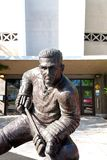 Maurice. Richard bronze statue in front of the arena of the same name in Montreal royalty free stock image