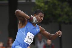Maurice Smith op IAAF tienkampvergadering Stock Foto's