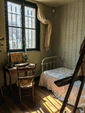 Maurice Utrillo`s bedroom in Musee Montmartre in Paris, France Royalty Free Stock Photo