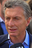 Mauricio Macri during demonstration against government policies Royalty Free Stock Image