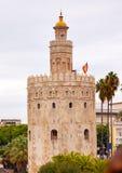 Maurischer Wachturm Sevilla Andalusien Spanien Torre Del Oro Old Stockfotos