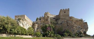 Maurisches Schloss, salobrena, Spanien stockfotografie