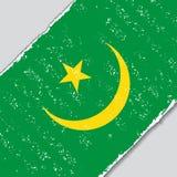 Mauritaanse grungevlag Vector illustratie stock illustratie