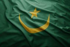 Mauritania bandery Fotografia Royalty Free