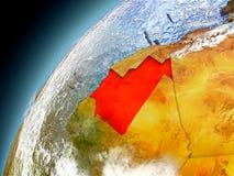 Mauritania de la órbita de Earth modelo Imagenes de archivo