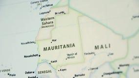 Mauritania en un mapa con Defocus