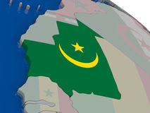 Mauritania with flag Stock Images