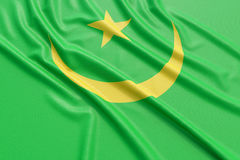 Mauritania flag Royalty Free Stock Photography