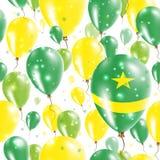 Mauritania Independence Day Seamless Pattern. Royalty Free Stock Photos