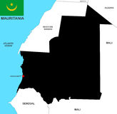 Mauritania map Royalty Free Stock Image