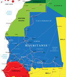 Mauritania map Stock Images