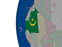 Mauritania with national flag Royalty Free Stock Images