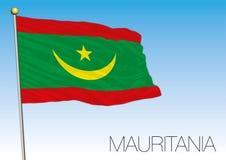 Mauritania new flag design 2017, official pattern Stock Photos