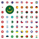 Mauritania round flag icon. Round World Flags Vector illustration Icons Set. Mauritania round flag icon. Round World Flags Vector illustration Icons Set Stock Image