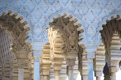 Mauritanian archs. Beautiful carved arcs in mauritanian style Royalty Free Stock Photography