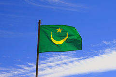 Mauritanian flag Royalty Free Stock Photos