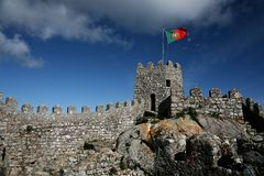 Mauritanian fortress. The wall of Mauritanian fortress XII c. at Sintra, Portugal Stock Photo