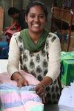 Mauritiaanse Vrouw - de Scène van de Markt Royalty-vrije Stock Foto