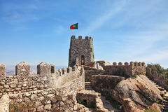 The Mauritian fortress with gear walls Royalty Free Stock Images