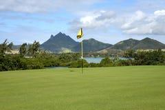 Mauritian golf on island cerf Royalty Free Stock Image