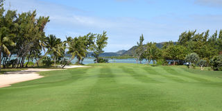 Mauritian golf on island cerf Stock Images