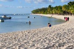 Mauritian plaża Zdjęcie Stock