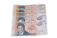 Mauritian Rs1000 notes Stock Photography