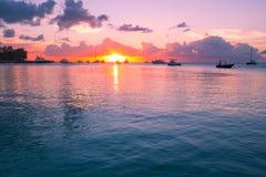 Mauritian Sunset. Summer travel concept . AMazing beach Stock Photography