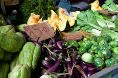 Mauritian vegetables and fruits market Royalty Free Stock Photo