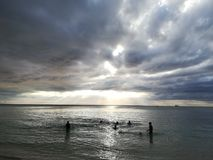 Mauritian view seaside Royalty Free Stock Photography