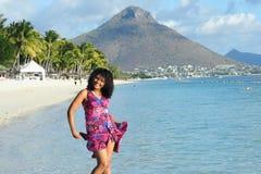 Mauritian woman Stock Photo