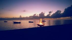 Mauritischer Sonnenuntergang Stockfotos