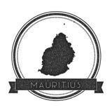 Mauritius översiktsstämpel royaltyfri illustrationer