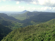 Mauritius. Mountains and forest of Mauritius Royalty Free Stock Photography