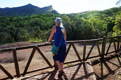 Mauritius - aarde van zeven kleuren stock foto