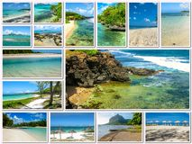 Mauritius aerial view collage Royalty Free Stock Photo