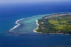 Mauritius antenn royaltyfria bilder