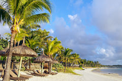 Mauritius beach by sunrise Stock Photo